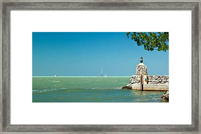 The View From The Mitchells Place In Islamorada Framed Print by Michelle Wiarda