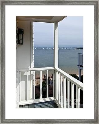 The View From The Porch Framed Print by Michelle Wiarda