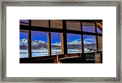 The View From The Sawtooth Valley Meditation Chapel Framed Print by Robert Bales