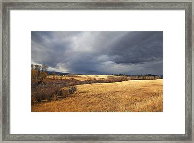 The View From The Side Of The Road Framed Print
