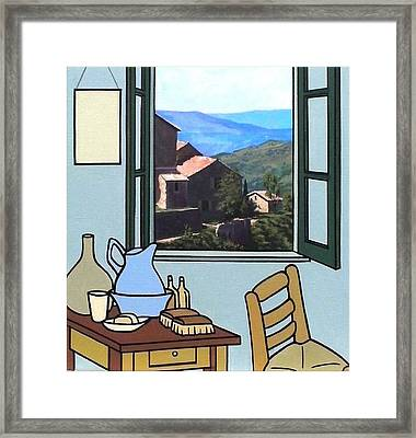 The View From Vincent's Room. Sold Framed Print by Kenneth North