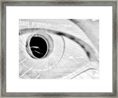 The View In The Eye Framed Print by Marcia L Jones