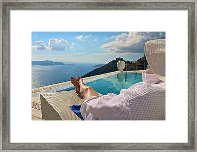 Framed Print featuring the photograph The View by John Babis