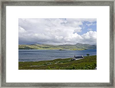 Framed Print featuring the photograph The View Northern Highlands Of Scotland by Sally Ross