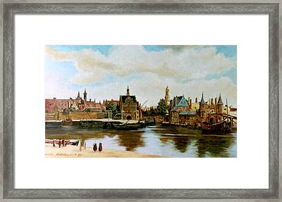The View Of Delft Framed Print by Henryk Gorecki