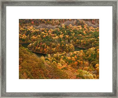 The View On Top Of Castle Craig Framed Print by Raymond Earley