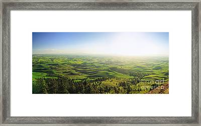 The View - Palouse Country Framed Print