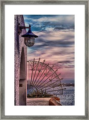 The View Santorini Greece Framed Print