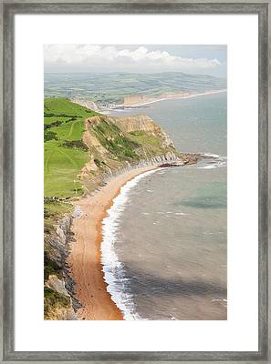 The View West Towards Bridport Framed Print by Ashley Cooper