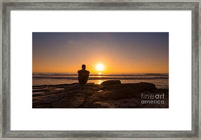 The View Wide Crop Framed Print by Michael Ver Sprill