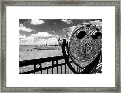 Framed Print featuring the photograph The Viewer by Sennie Pierson