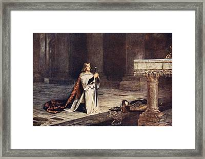 The Vigil Framed Print by John Pettie