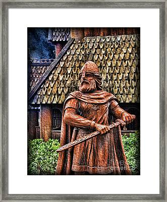 The Viking Warrior Statue  Framed Print by Lee Dos Santos