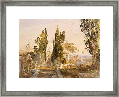The Villa Deste, Tivoli, 1837 Framed Print