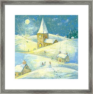 The Village Carol Service Framed Print by David Cooke