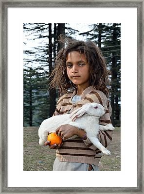 The Village Girl Framed Print