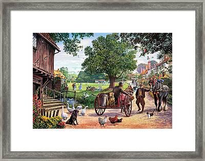 The Village Green Framed Print by Steve Crisp