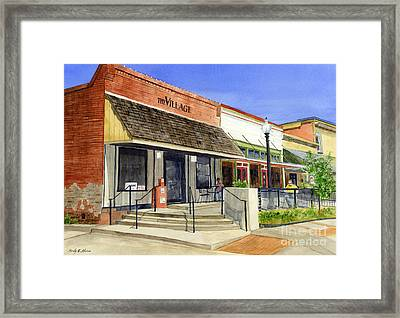 The Village Framed Print by Hailey E Herrera