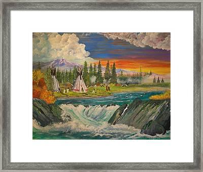 The Village II Framed Print