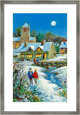 The Village In Winter Framed Print