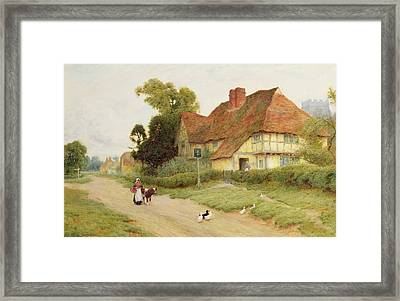 The Village Inn Framed Print