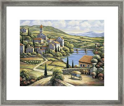 The Village Framed Print by John Zaccheo