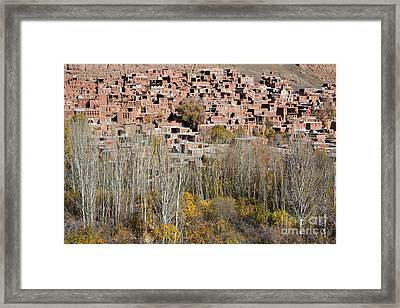 The Village Of Abyaneh In Iran Framed Print by Robert Preston