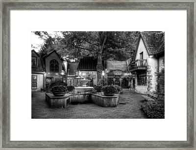 The Village Of Gatlinburg In Black And White Framed Print by Greg and Chrystal Mimbs