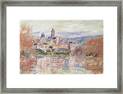 The Village Of Vetheuil Framed Print by Claude Monet