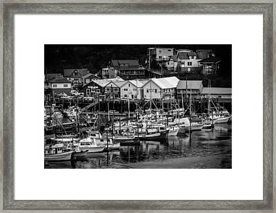 The Village Pier Framed Print by Melinda Ledsome
