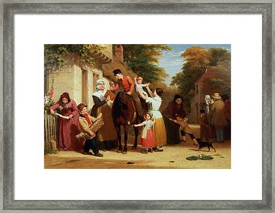 The Village Post Office Framed Print by William Frederick Witherington