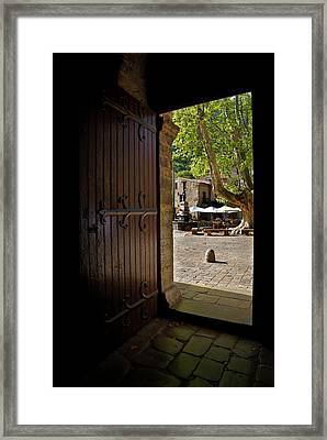 The Village Square Seen Framed Print by Panoramic Images