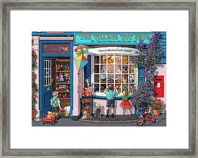 The Village Toy Shop Framed Print