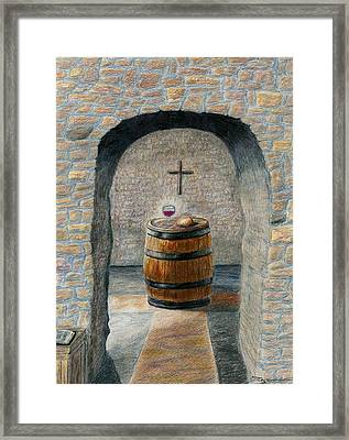 The Vinedresser's Table Framed Print by Terry Hall