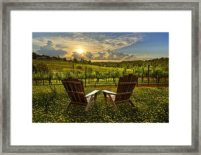 The Vineyard   Framed Print by Debra and Dave Vanderlaan