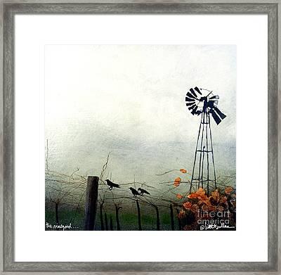 The Vineyard... Framed Print
