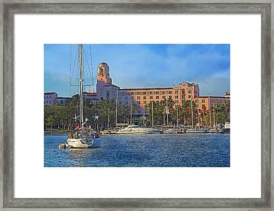 The Vinoy Park Hotel Framed Print