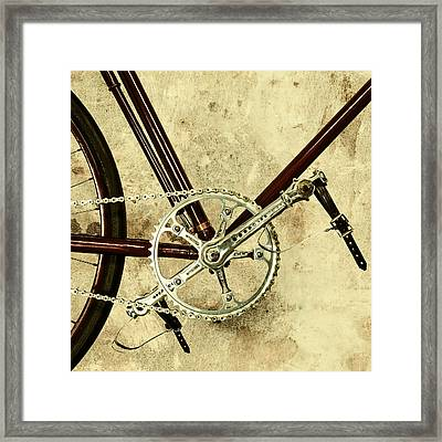 The Vintage Bicycle Gears Framed Print