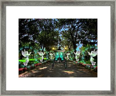 The Vintage Hearse Framed Print by Michael Rucker