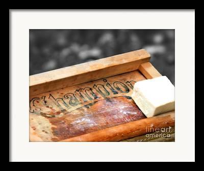 Old Washboards Digital Art Framed Prints