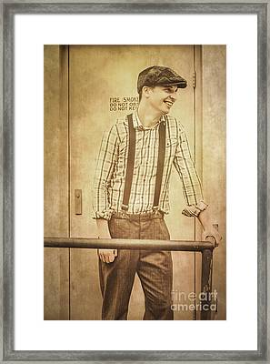The Vintage Store Man Framed Print