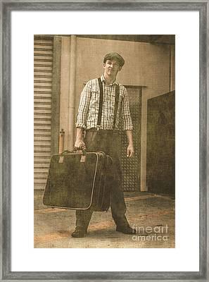 The Vintage Traveler Framed Print
