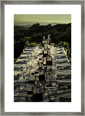 The Vintner's Table Framed Print by Curtis Dale