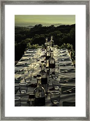 The Vintner's Table Framed Print