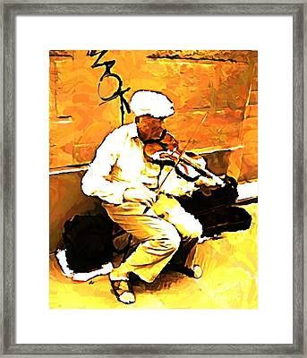 The Violenist Framed Print by John Malone