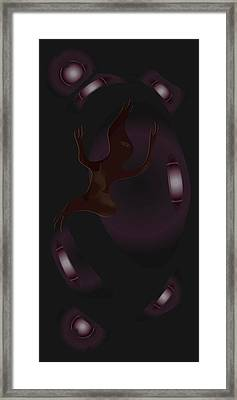 Framed Print featuring the digital art The Violet Void by Kevin McLaughlin