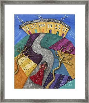 Framed Print featuring the sculpture The Violinist by Anne Klar