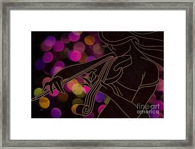The Violinist Framed Print by Bedros Awak