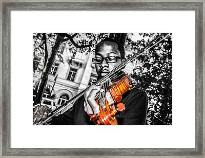 The Violinist  Framed Print by Steven  Taylor