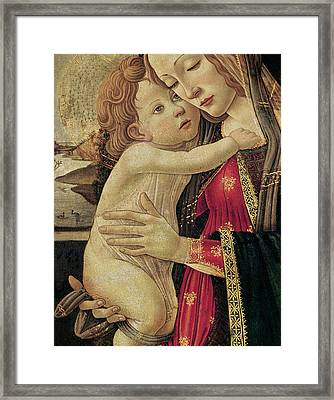 The Virgin And Child Framed Print by Sandro Botticelli